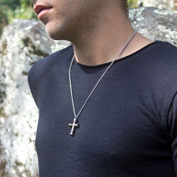Colar Round Cross