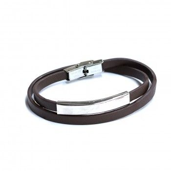 Pulseira Two Turns Brown