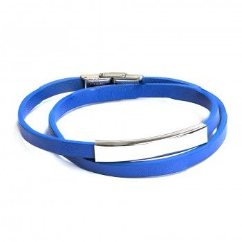 Pulseira Two Turns Blue