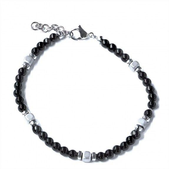 Pulseira Black & White Bead