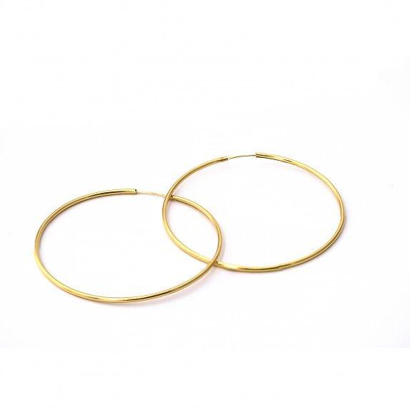Argolas Ouro Medium - Antique