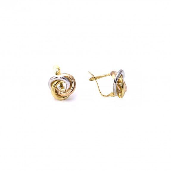 Brincos Ouro  - Interlaced Tri-color