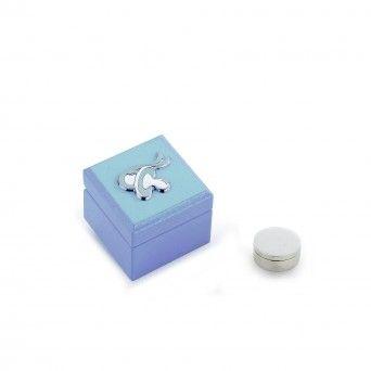 Caixa 1ºDente Chupeta Azul