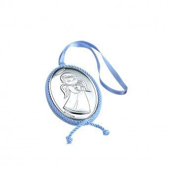 Medalha de Berço Musical -  Anjo de Frente Azul