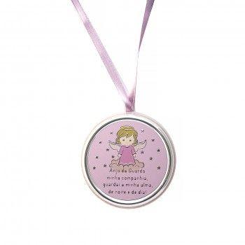 Medalha de Berço Rosa - Anjo