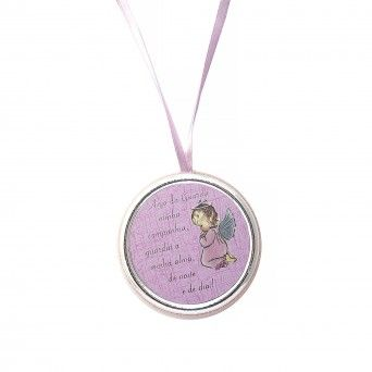 Medalha de Berço Rosa -  Anjo da Guarda