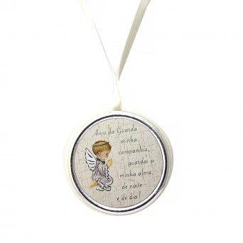 Medalha de Berço Branca - Anjo da Guarda