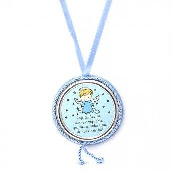 Medalha de Berço Azul Musical - Preghiera