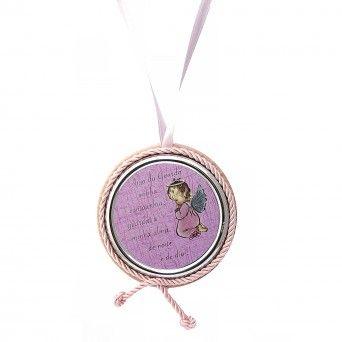 Medalha de Berço Rosa Musical - Preghiera