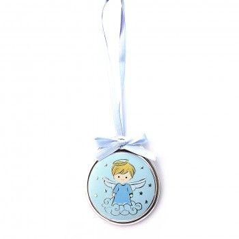 Medalha de Berço Oval Azul