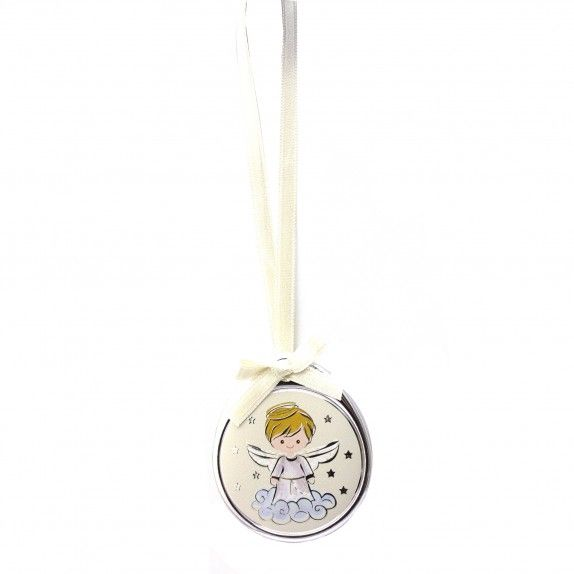 Medalha de Berço Oval  Branco