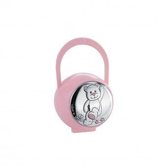 Caixa de Chupeta Rosa - Urso
