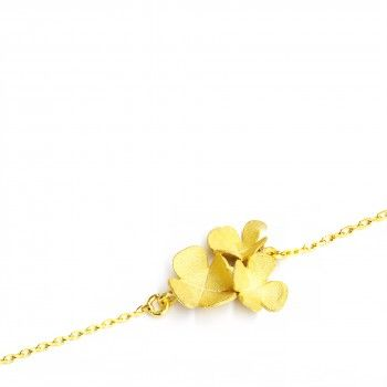Pulseira Three Golden Clovers