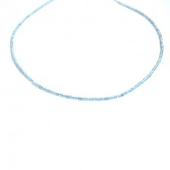 Colar Light Blue Crystal Bead