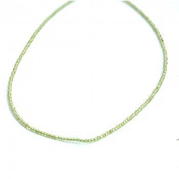 Colar Light Green Crystal Bead