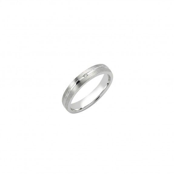 Aliança Prata - Precious with zircon