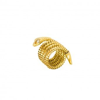 Anel Golden - Serpente c/ Branco