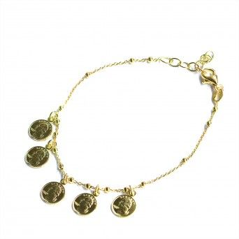Pulseira Dourada - Small Coins