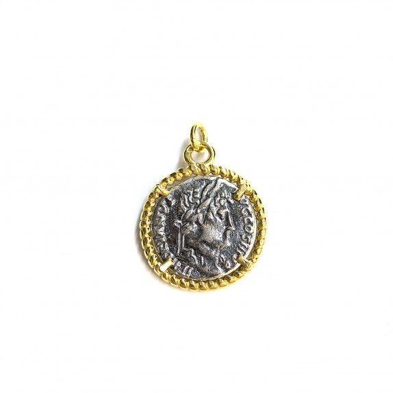Medalha Bicolor - Moeda Trabalhada