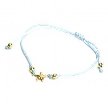 Pulseira Fio Azul - Estrela Dourada