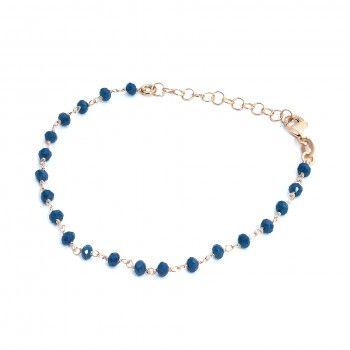 Pulseira Acobreada - Pedrinhas Azuis