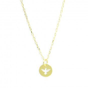 Colar Dourado - Medalha Espirito Santo
