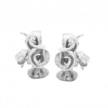 Brincos - Four White Roses