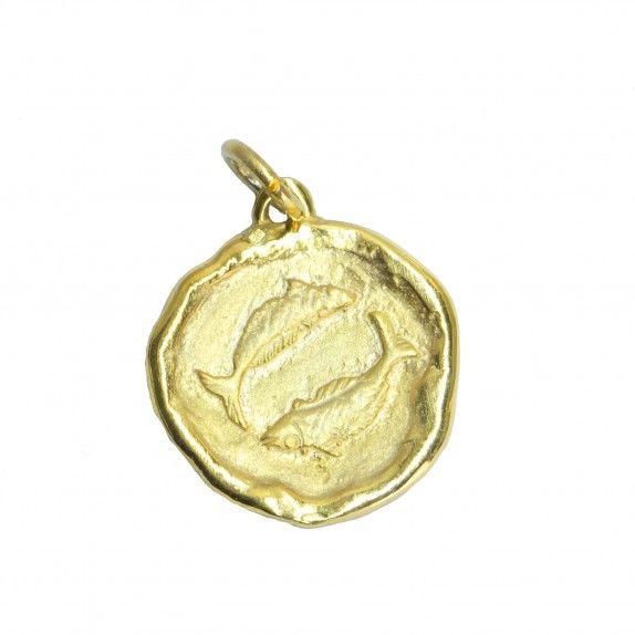 Medalha Dourada - Signo Peixes