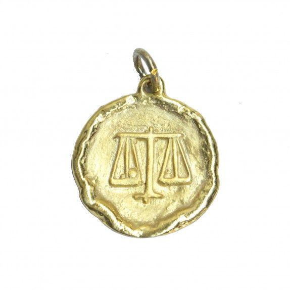 Medalha Dourada - Signo Balança