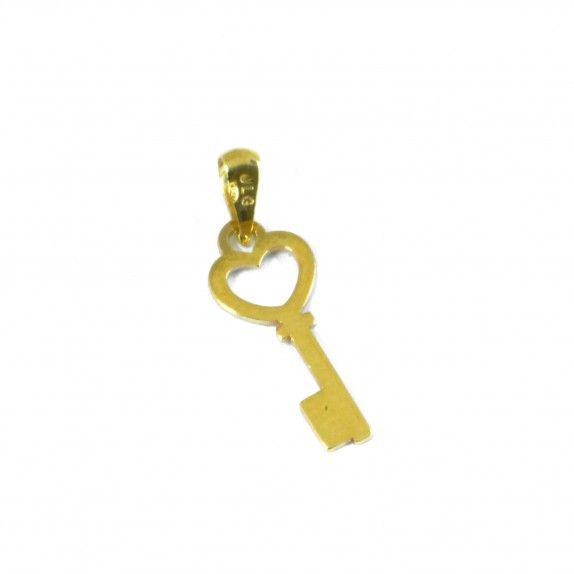 Medalha Ouro 9kts - Chave do Coração