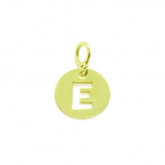 Medalha Ouro 9kts - Inicial E