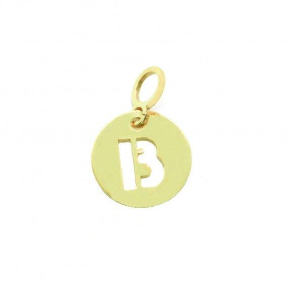 Medalha Ouro 9kts - Inicial B