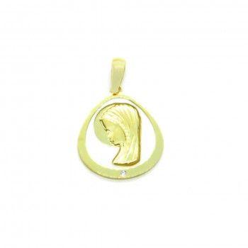 Medalha Ouro 9kts - Santa