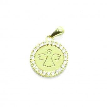 Medalha Ouro 9kts - Circulo de Anjo