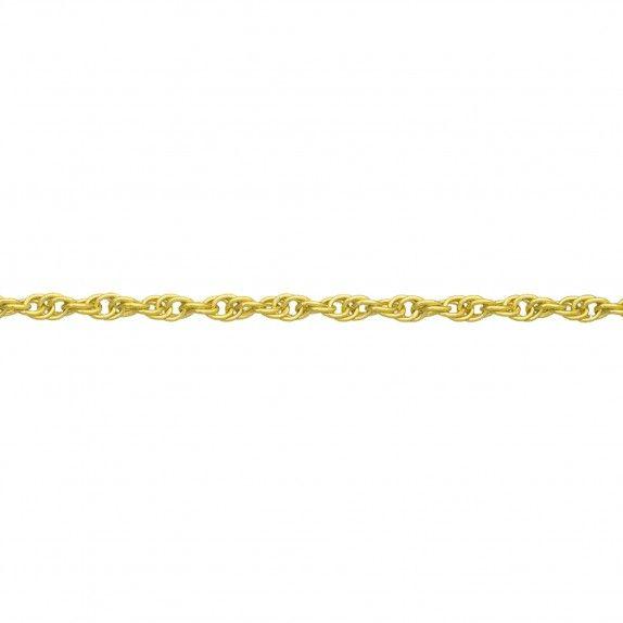 Fio Ouro 9kts - Malha Cordão Torcido