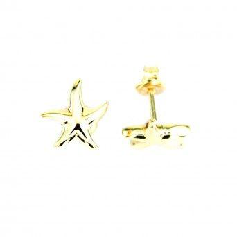 Brincos Ouro 9kts -  Estrela do Mar