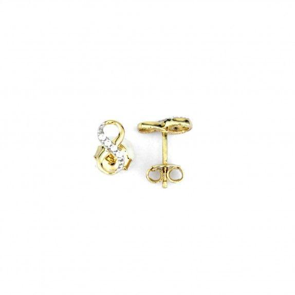 Brincos Ouro 9kts - Infinito Pequeno