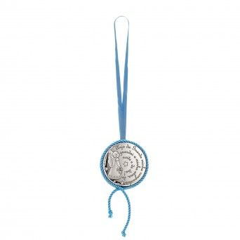 Medalha de Berço Musical Azul - Oração