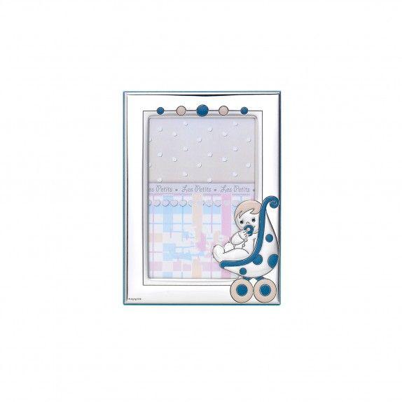 Moldura Azul - Carrinho Bebé 9x13