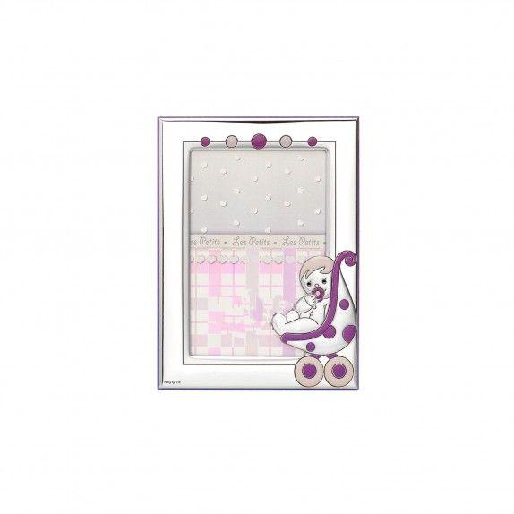 Moldura Rosa - Carrinho Bebé 13x18