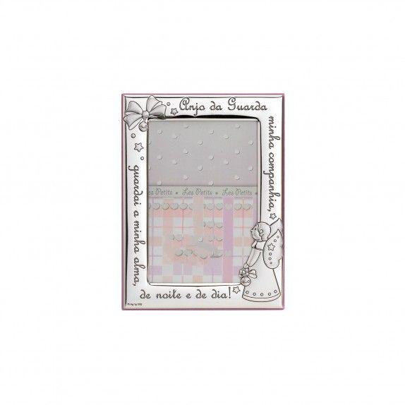 Moldura Rosa - Anjo da Guarda 9x13
