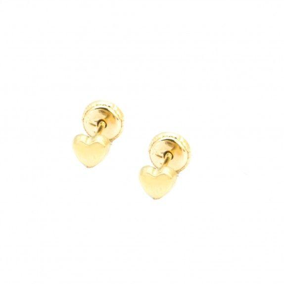 Brincos Ouro 9kts - Corações