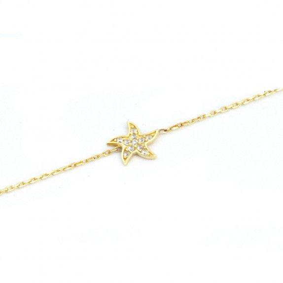 Pulseira Ouro 9kts - Estrela do Mar