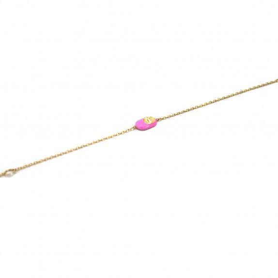 Pulseira Ouro 9kts - Sapato Rosa