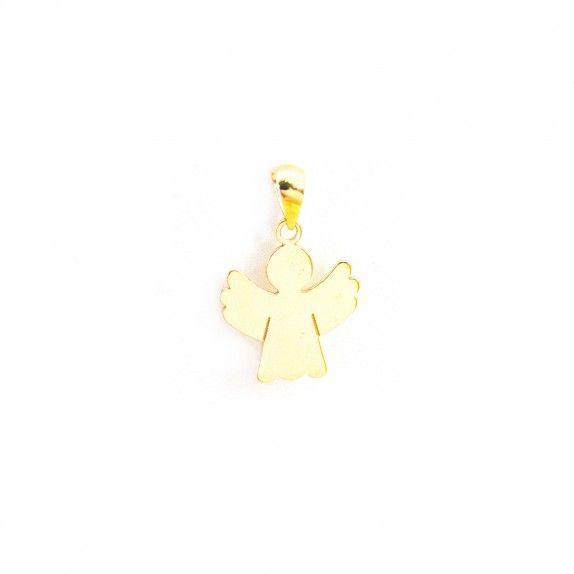 Medalha Ouro 9kts - Anjo Simples
