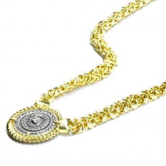 Colar Dourado - Medalhão