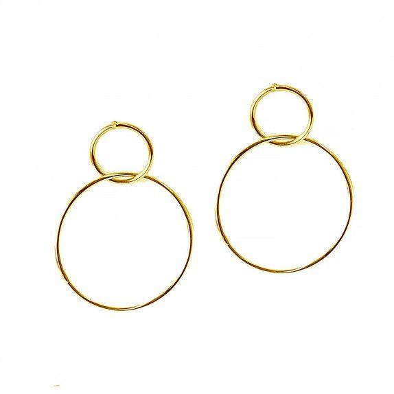 Brincos Dourados -  Two Circles