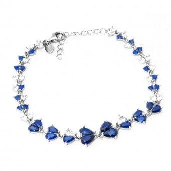 Pulseira - Elegante Lágrima Azul