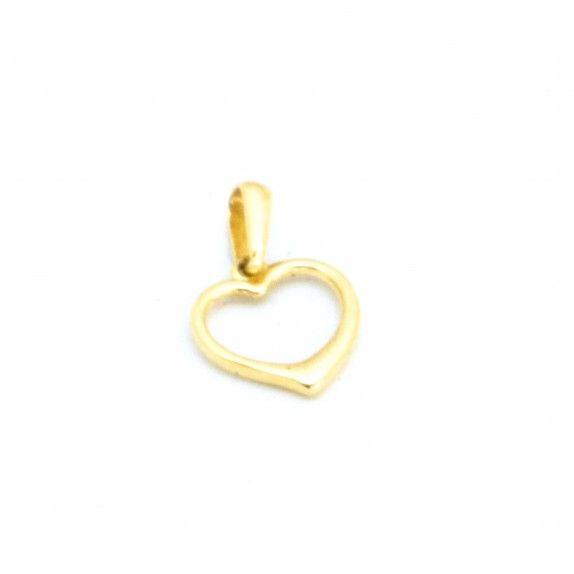 Medalha Ouro 9kts - Coração