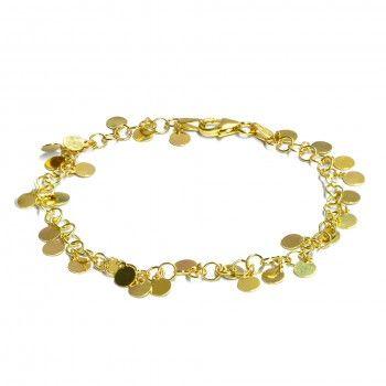 Pulseira Dourada - Medalhinhas